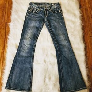Miss Me Jeans Distressed Flare Size 27